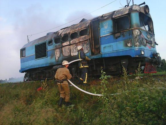 На Вінниччині находу спалахнув поїзд. Якрятували 25 пасажирів