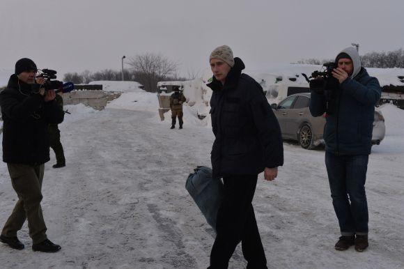 Роман Савков у день звільнення 24 січня - перші кроки ще на тимчасово  окупованій території