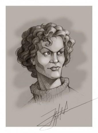 Портрет Ліни Костенко у виконанні Юрія Журавля