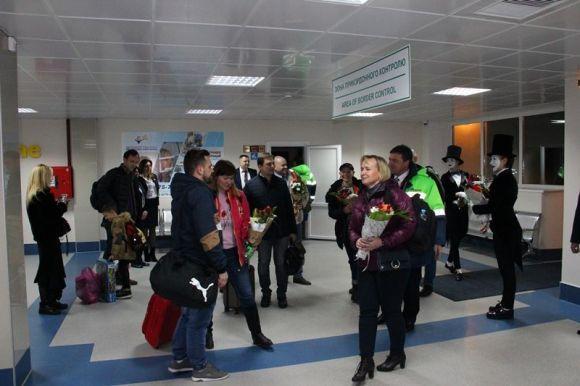 УГавришівці прийняли перший літак нового авіарейсу «Вінниця-Київ-Вінниця»