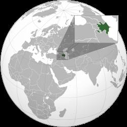 Розташування Азербайджану