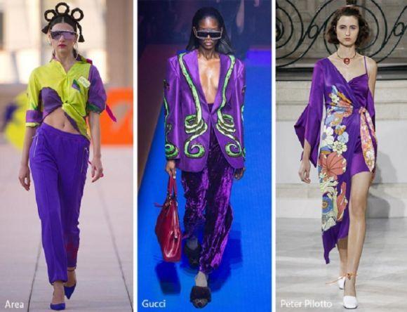 Модні поєднання фіолетового у колекці відомих модних будинків