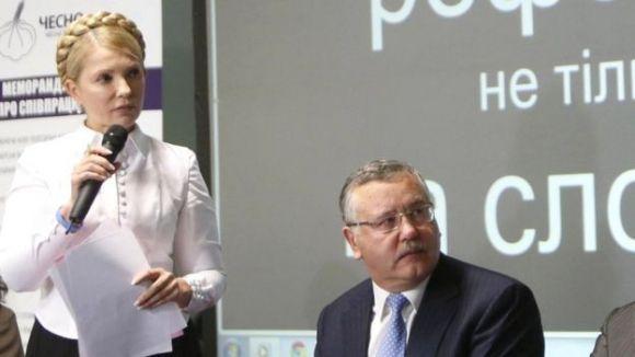 Гриценко і Тимошенко мають спільне минуле. Але й тепер, коли вони у гострій конкуренції, про пані Юлю він, як бачимо, говорить дуже обережно