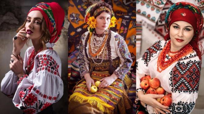 Українське жіноче вбрання, вишиванка