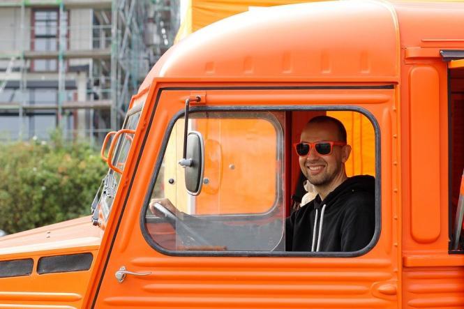 Оранжевый, Авто, Автомобиль, Грузовик, Старый