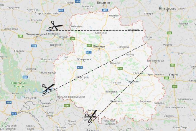 Замість 27 районів — тільки три: як можуть поділити Вінницьку область