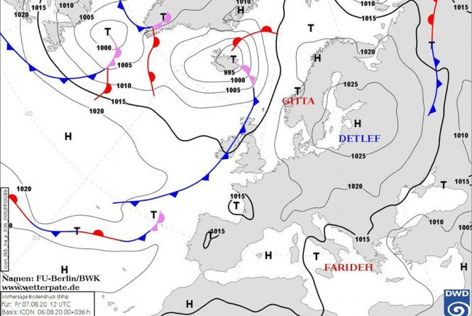 Дощі з грозами: антициклон Detlef визначить погоду в Україні до кінця тижня