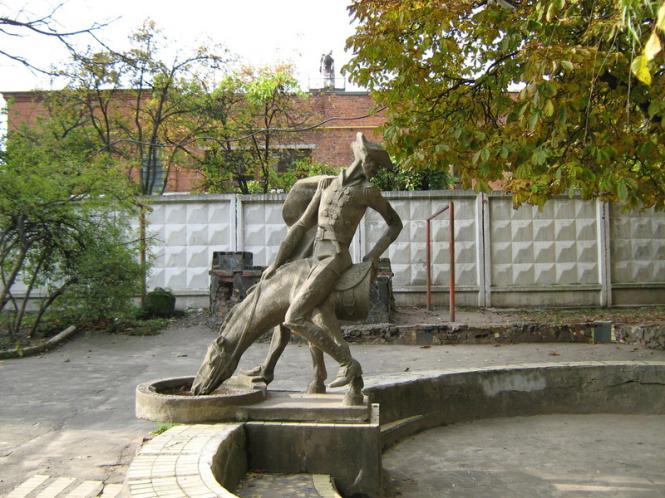 Памятник барону Мюнхгаузену (Хмельницкий) — Википедия