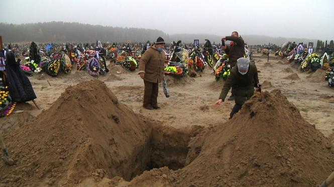 На кладовищах Житомира поховано 95 людей, які хворіли на COVID-19
