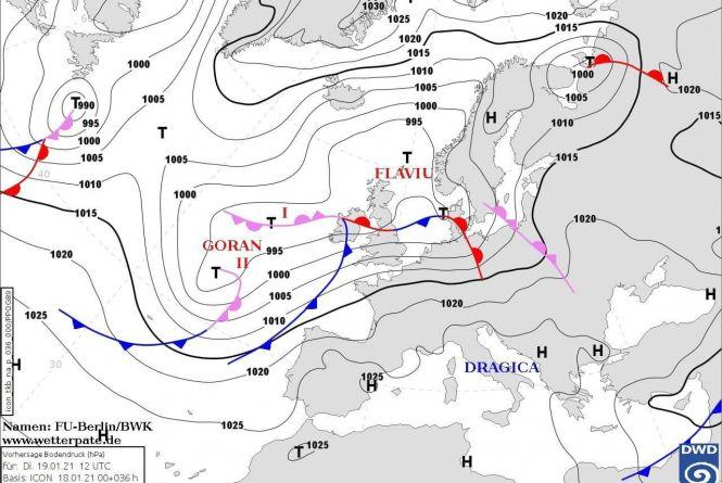 В Україну суне антициклон Dragica. Яку погоду прогнозують на Водохреща?